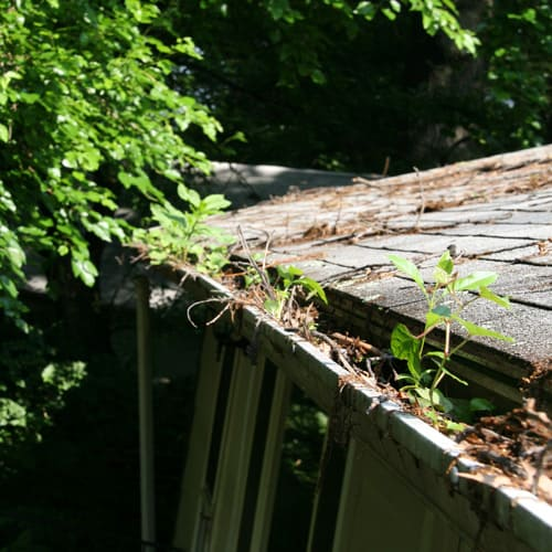 gutter system before