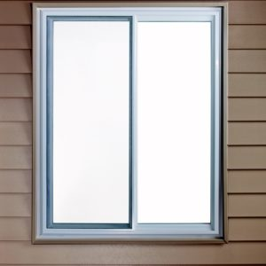 slider window exterior closed with screen