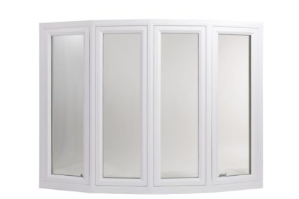 bow window with white vinyl